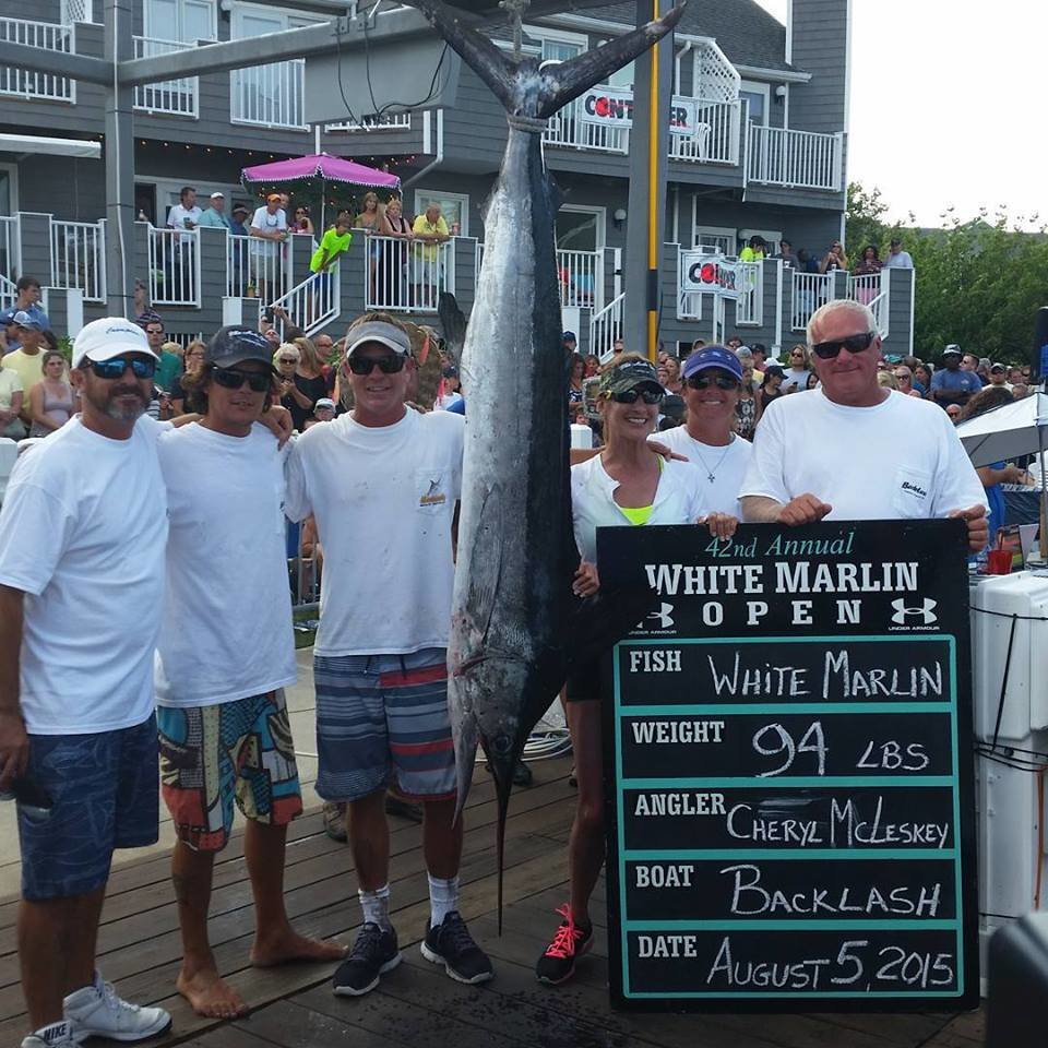 3rd largest white ever for white marlin open day 3 ocean for Maryland boat fishing license