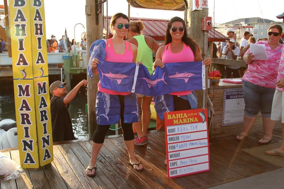 The Ladies are Slaying the White Marlin!