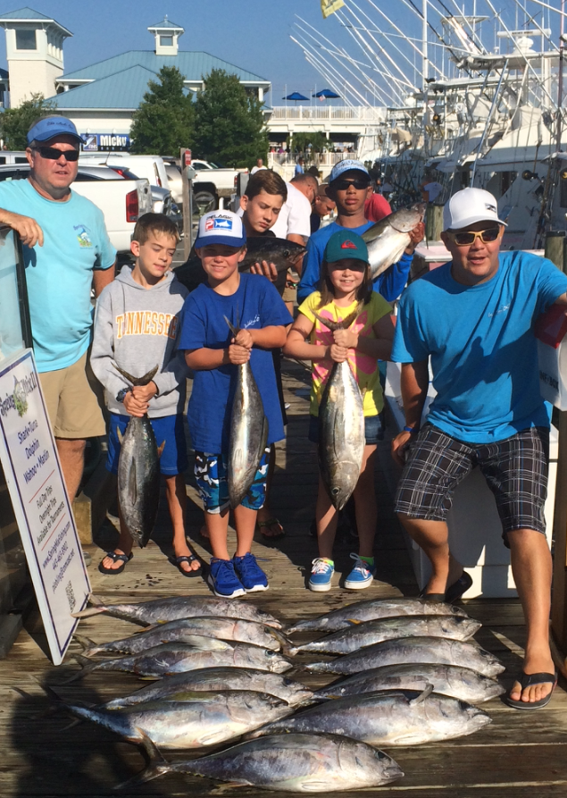 Kids Smash the Yellowfin and Poor Girls Open Day 1