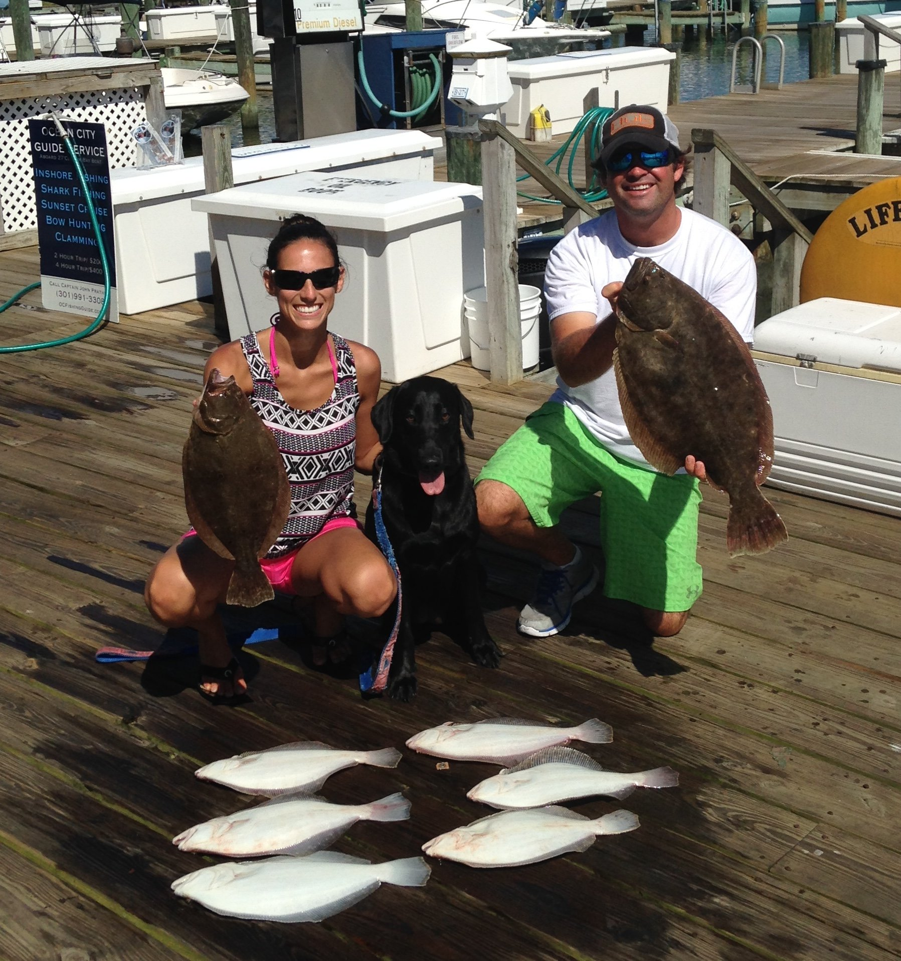 A Man, His Wife and His Dog…..Oh, and A Limit of Flounder