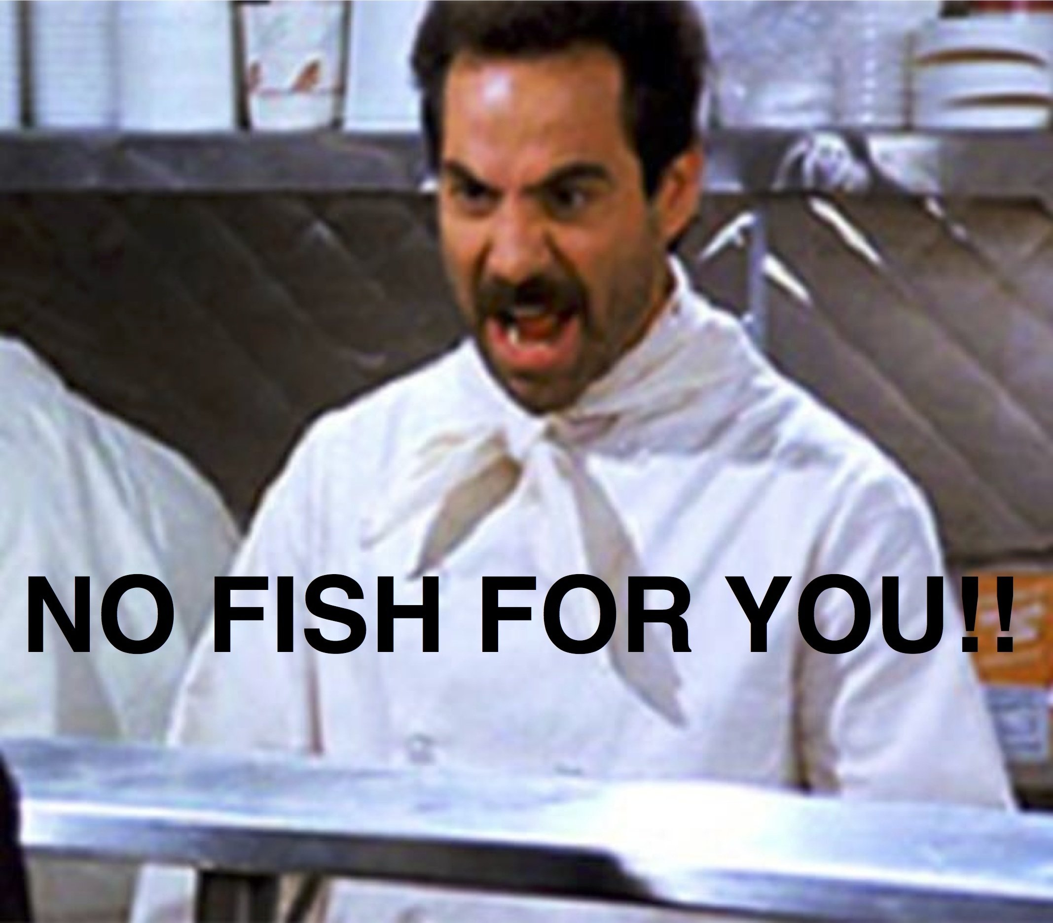 NO FISH FOR YOU!!