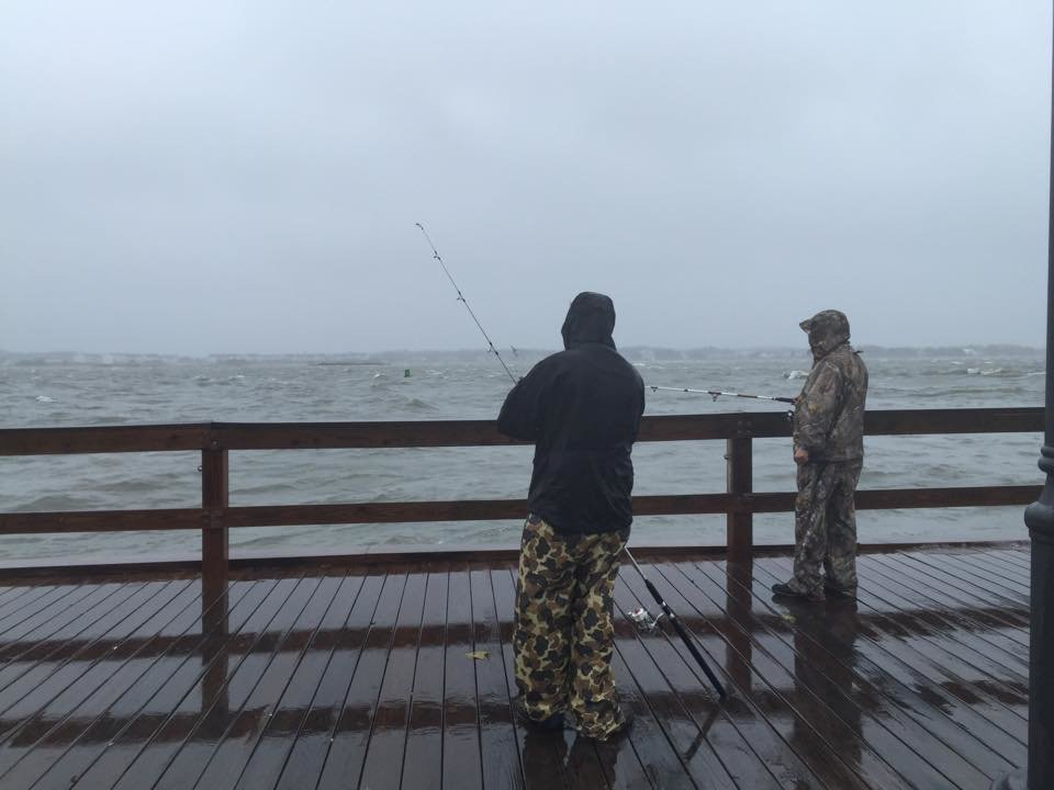 Nor 39 easter brings rain wind and flooding to oc ocean for Nor easter fishing