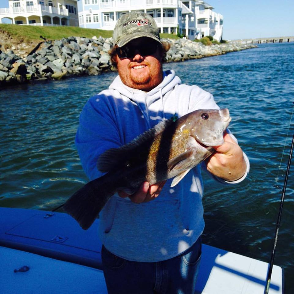 Keeper flounder and tog in the bay ocean city md fishing for What time will the fish bite today