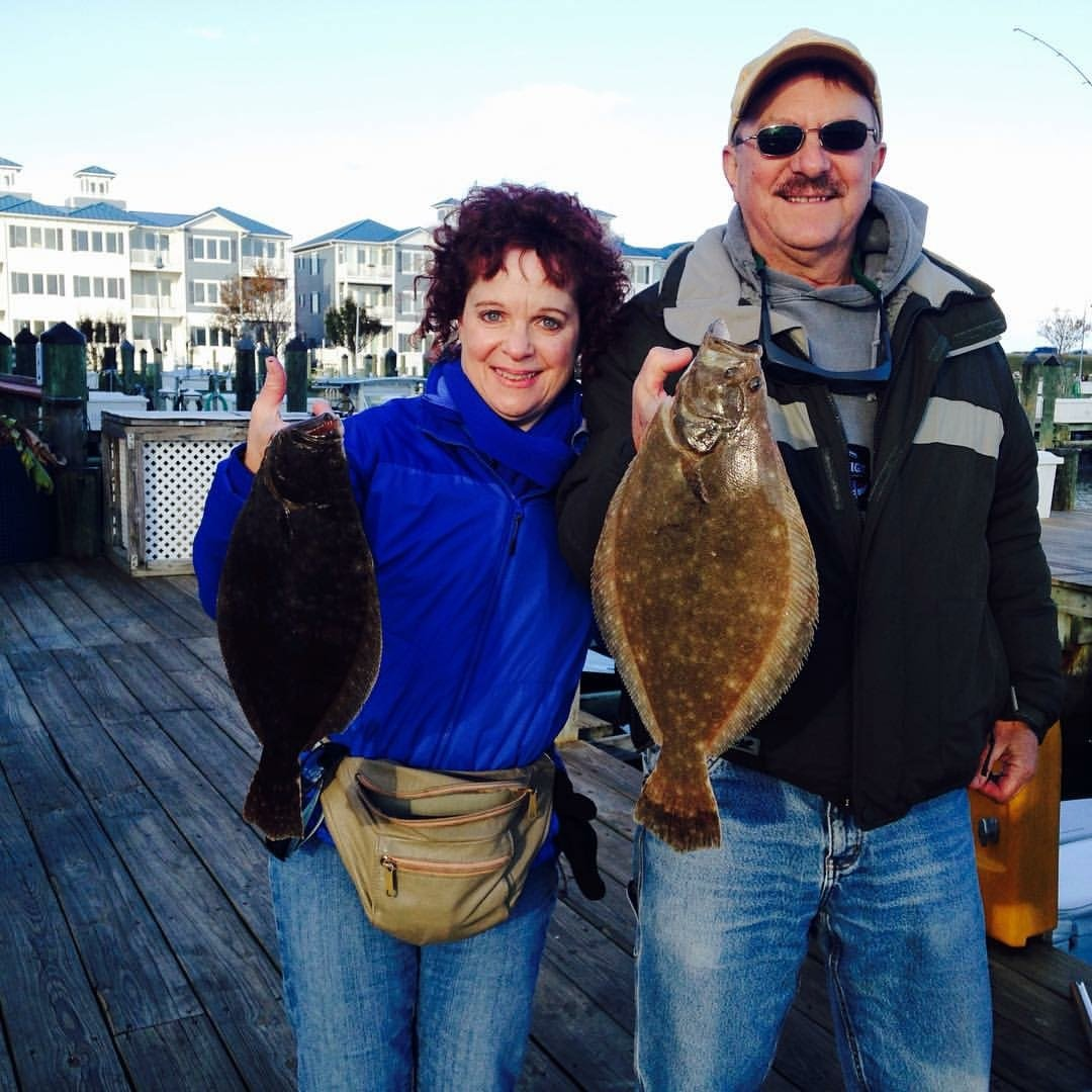 Keeper Flounder and Tog in the Bay