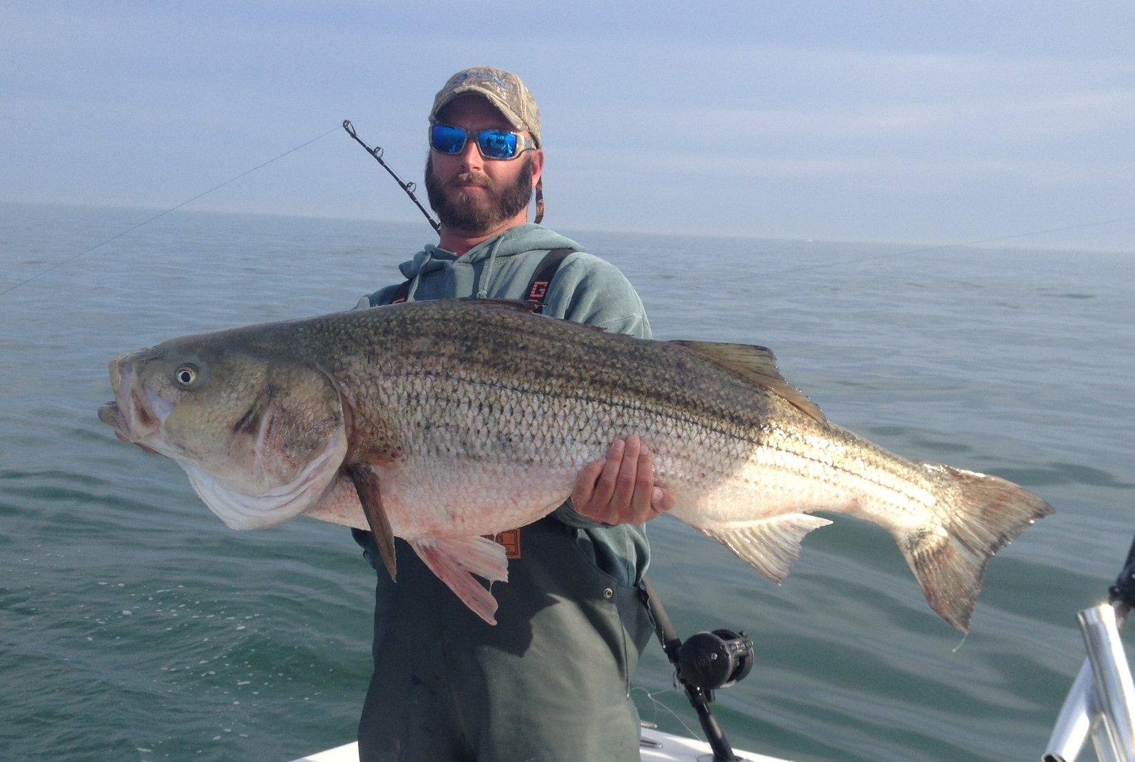 Nontypical breaks 50 pounds to win ocmc rockfish for Fishing in md