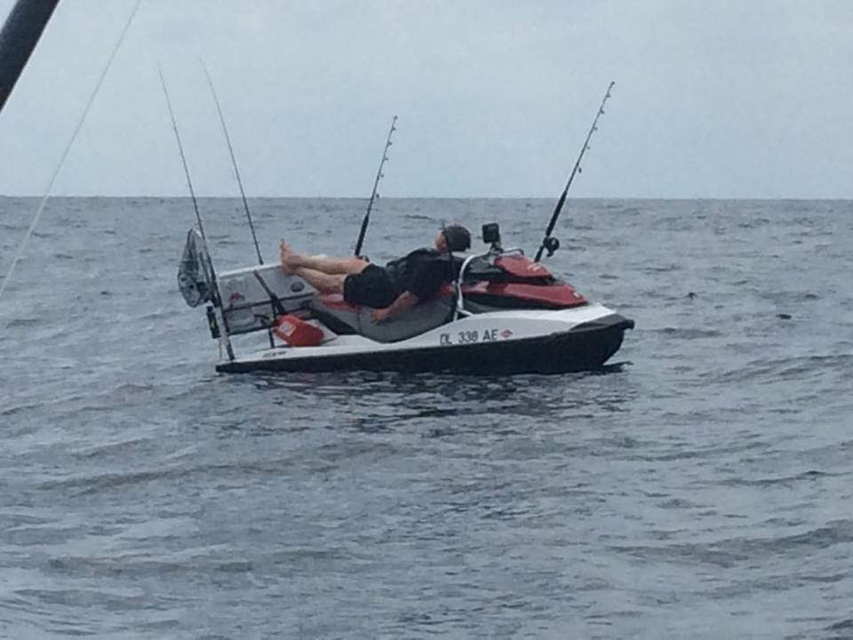 White marlin fishing from a jet ski ocean city md fishing for Jet ski fishing accessories