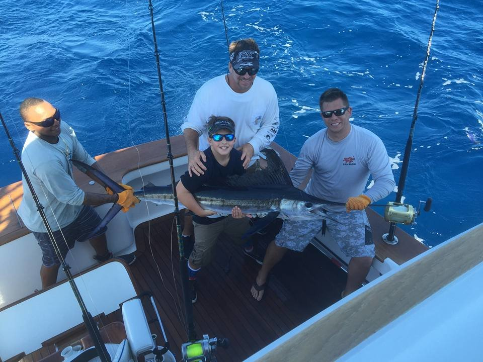 The kid 39 s first white marlin ocean city md fishing for Is today a good day to go fishing