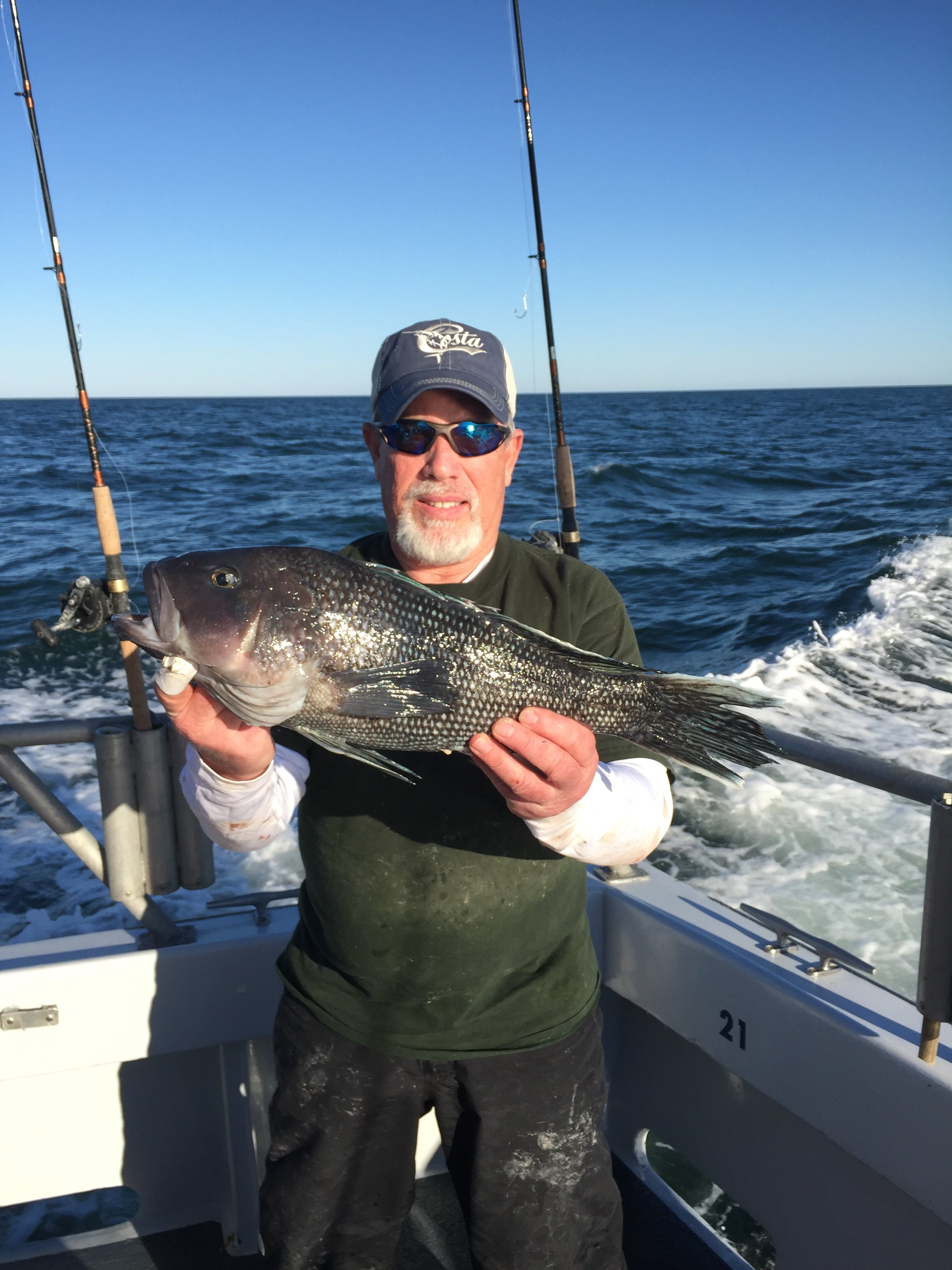 Stud sea bass and november yellowfins ocean city md fishing for Bass fishing in maryland