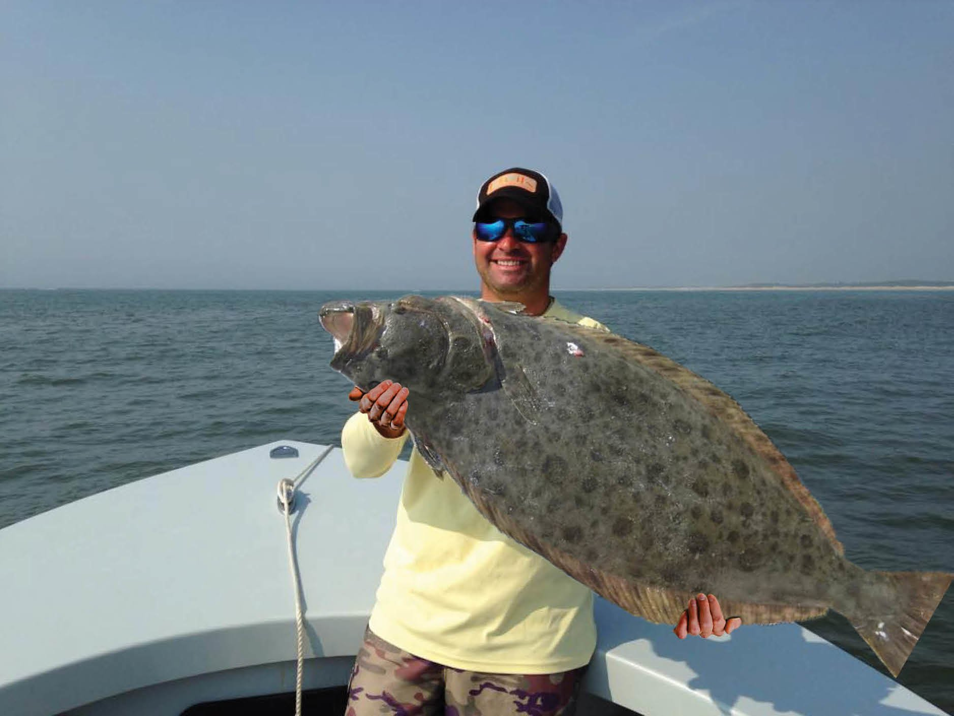 Potential world record summer flounder ocean city md fishing for Fluke fishing nj