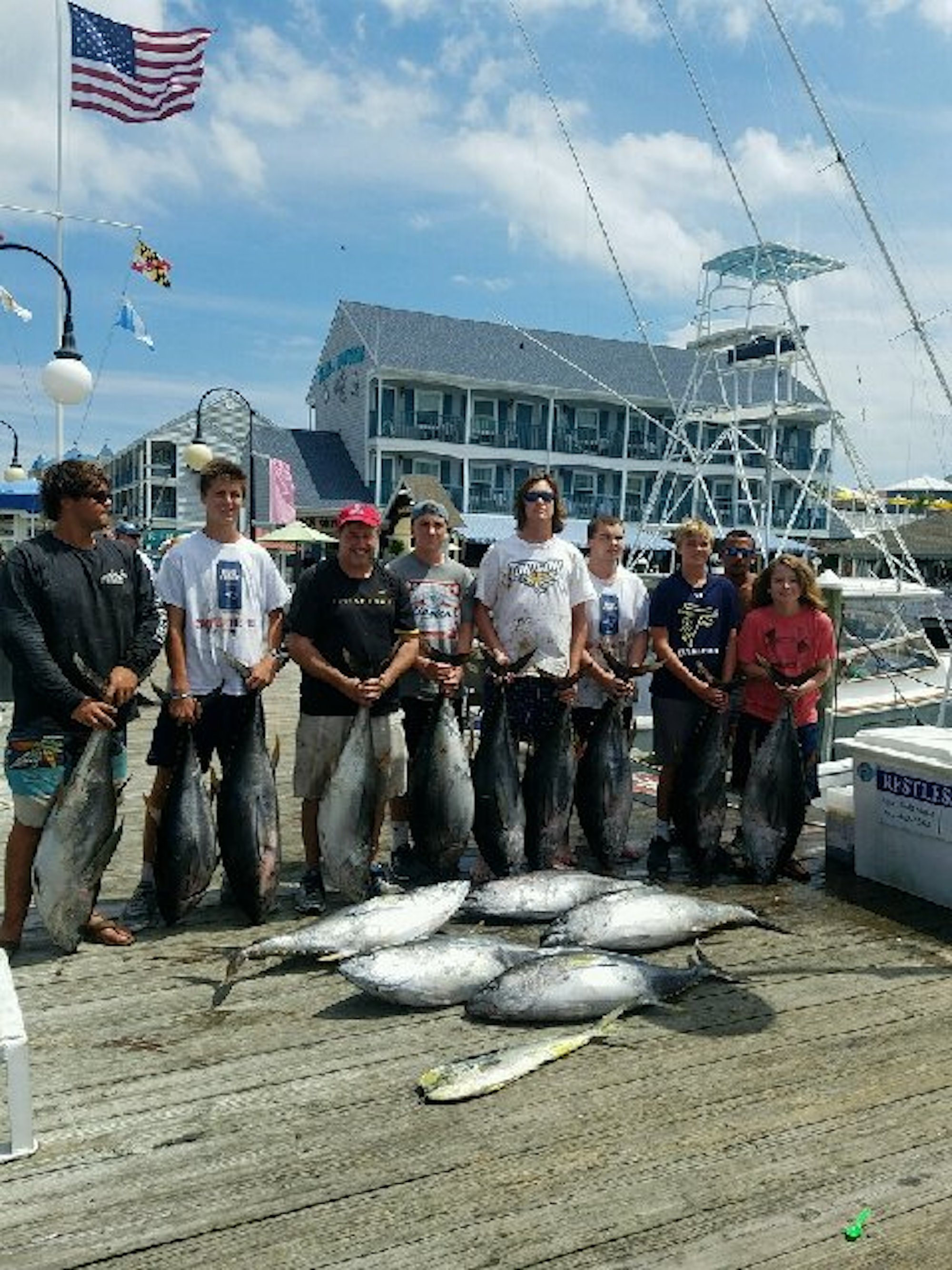 Chunkin 39 some nice tunas ocean city md fishing for Fishing spots in maryland